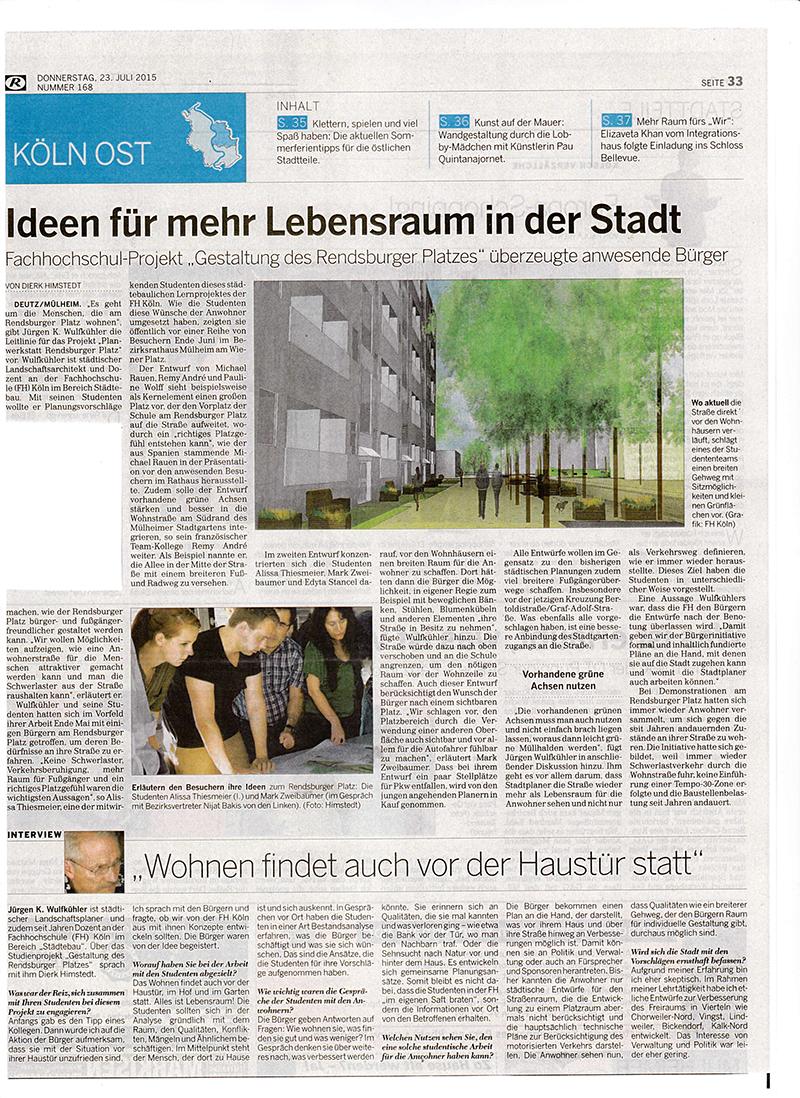 Studenten-Projekt-Rendsburger-Platz