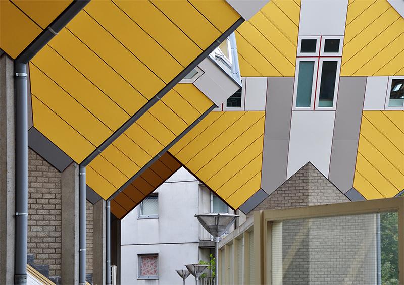 """""""Cubes"""" von Piet Blom"""