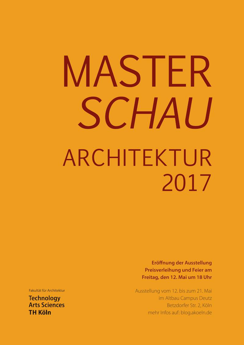 Plakat der Masterschau 2017