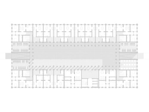 Grundriss eines Hofgebäudes