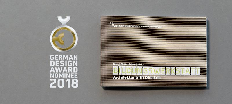 Cover der Veröffentlichung mit Logo des German Design Awards