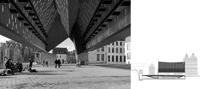 """Die """"market hall"""" in Gent als urban space"""