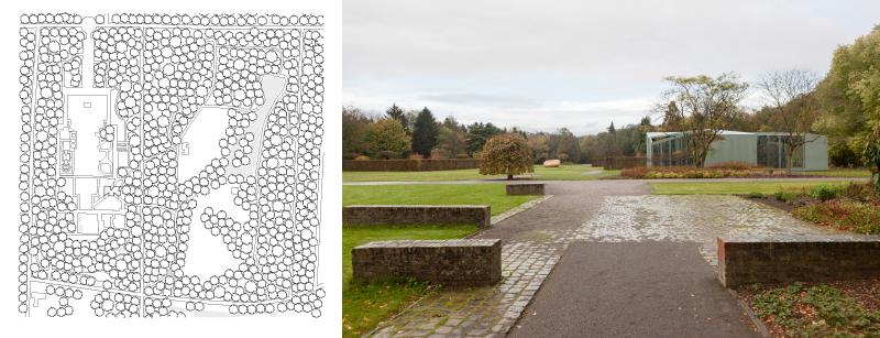 Der Pavillon als Verbindung von Park und Museum