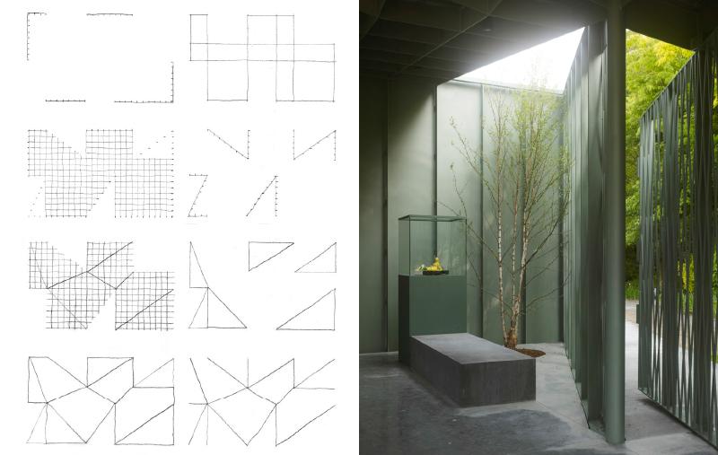 Das Zahlensystem 3,5,7,... des Büros Robbrecht en Daem – analytische Zeichnungen