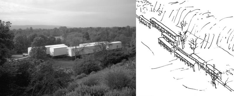 """Aue-Pavillons"" der Documenta IX in Kassel"