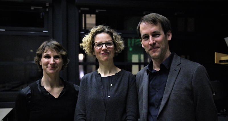 Sabine Schmidt, Dr. Sofie de Caigny und Prof. Dr. Daniel Lohmann