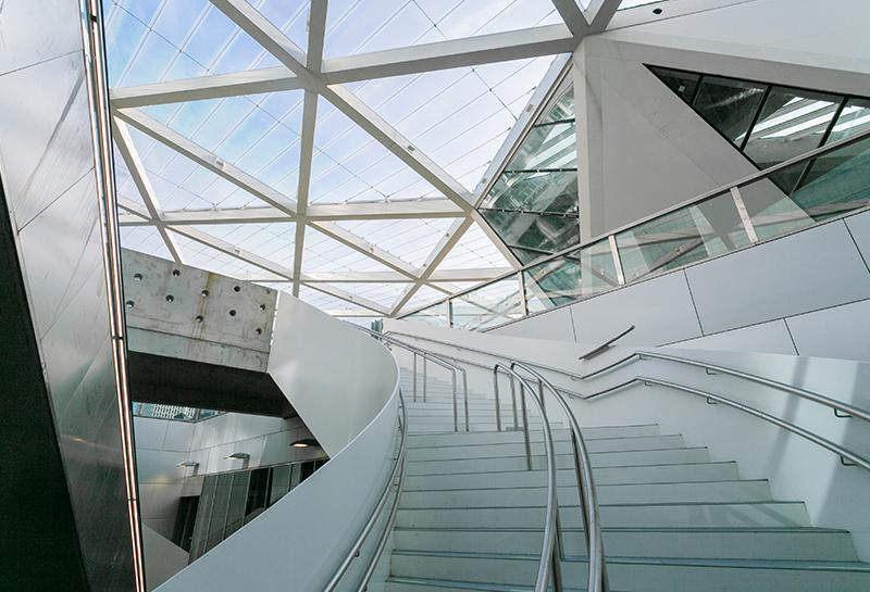 Treppenhaus und Dachkonstruktion