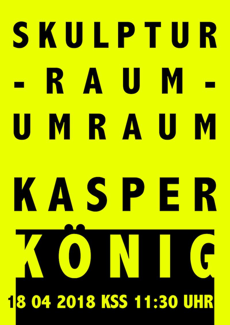 Vortrag Kasper König Plakat