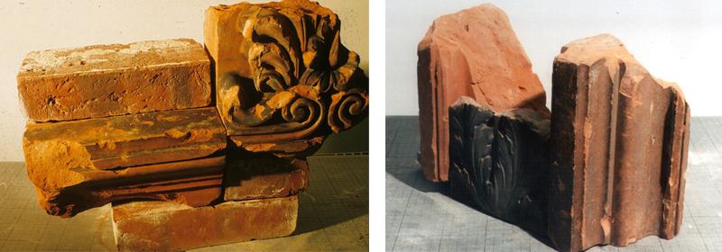 Fundstücke der originalen Formziegel