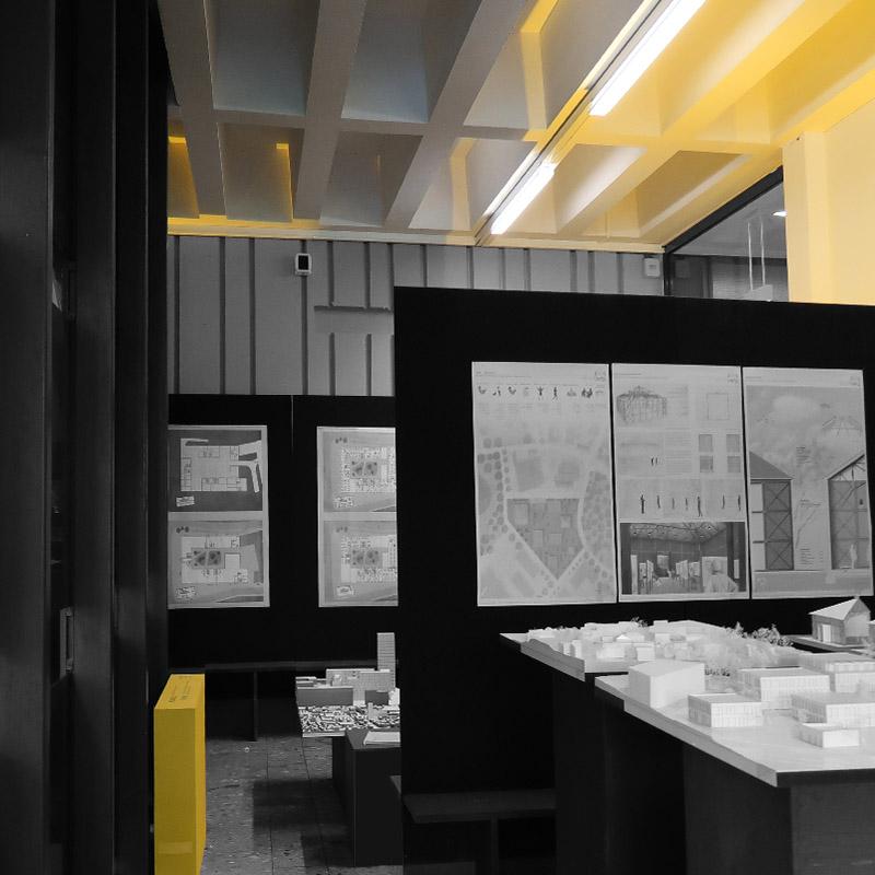 Ausstellungsfläche der Studenten