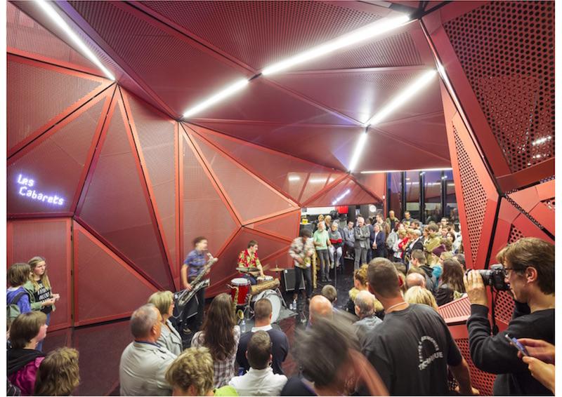 Kulturzentrum, Beaumont-Hague | Foyer © Périphériques Architectes