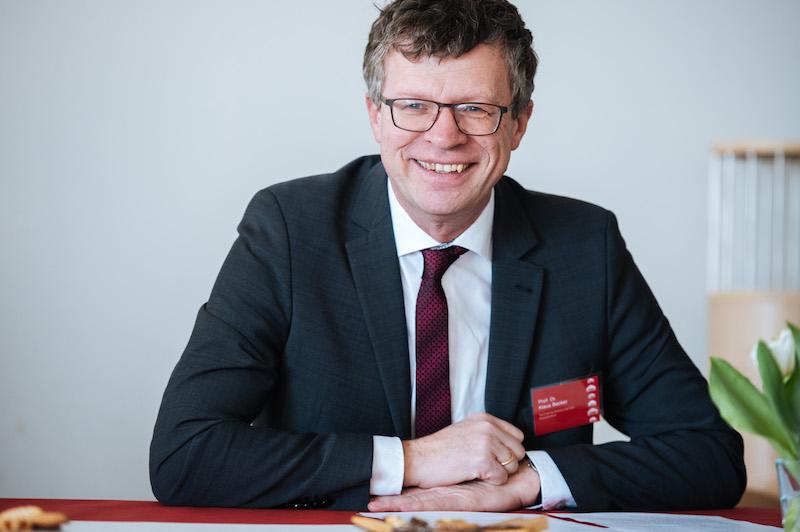Begrüßung durch Prof. Dr. Klaus Becker, Vizepräsident für Forschung und Wissenstransfer