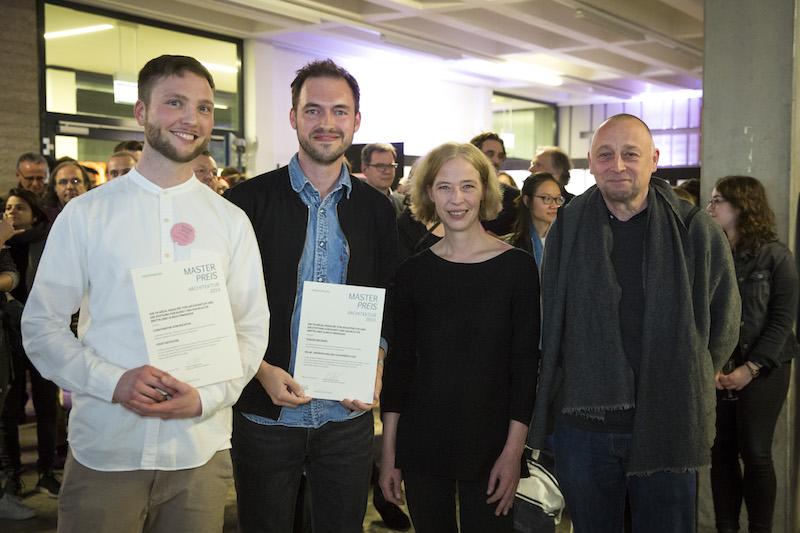 v.l. Constantin von Richter, Fabian Reckers, Prof. Susanne Kohte, Ulrich Findeisen