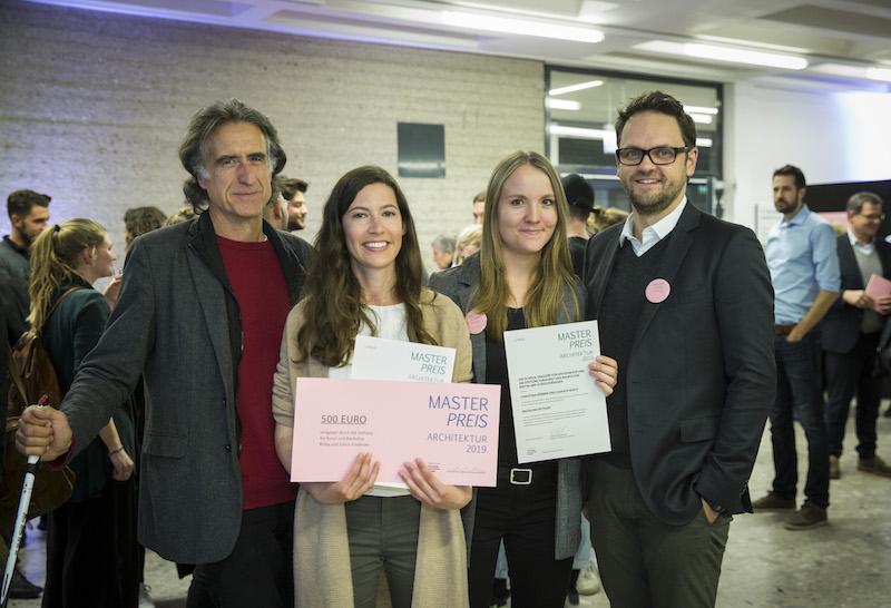 v.l. Prof. Hans-Peter Achatzi, Donata Wirtz, Christina Körber, Prof. Thorsten Burgmer
