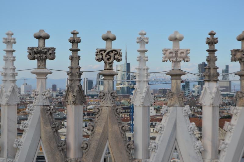 Ausblick vom Dach des Mailänder Domes