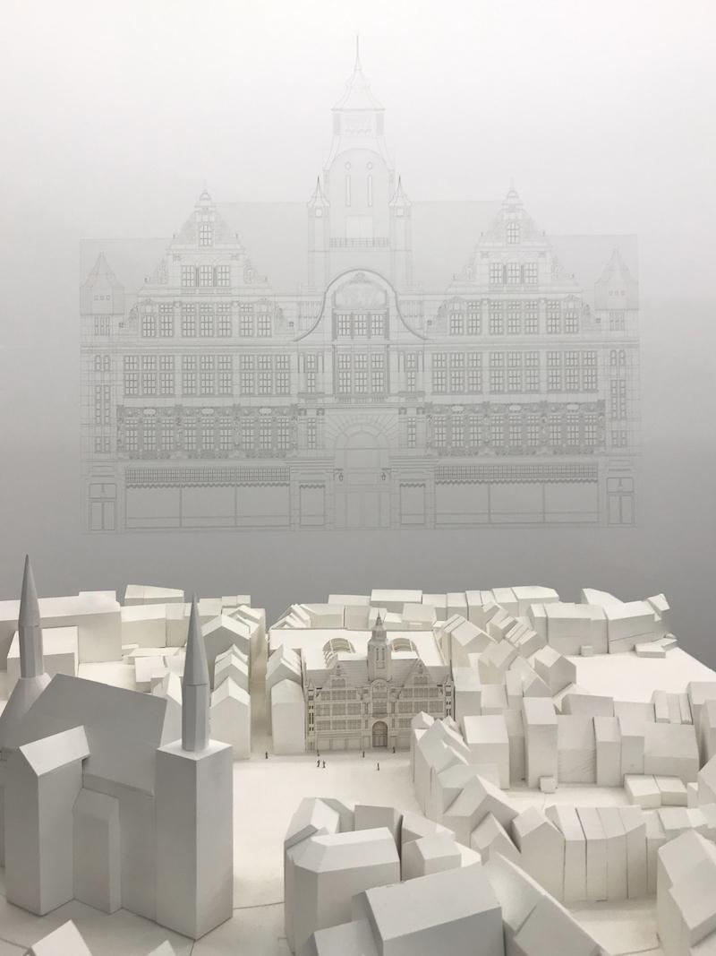 Kaufhaus Tietz | Modell und Fassadenzeichnung