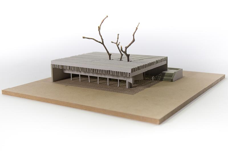 Nordischer Pavillon, Venedig // Modell aus Graupappe