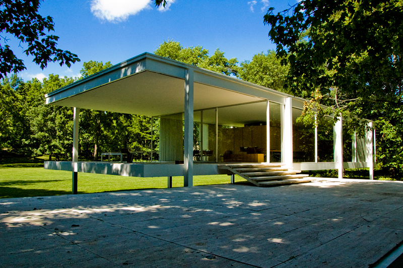 Farnsworth House (Illinois) von Mies van der Rohe